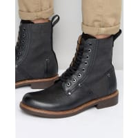 G-StarLabour Lace Up Leather Boots - Black