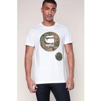 G-StarT-shirt blanc printé logo camouflage Warth - G-star