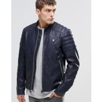 G-StarSuzaki PU Leather Jacket - Blue