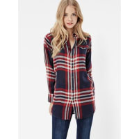 G-StarTacoma Long Check Boyfriend Shirt