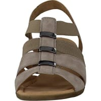 GaborComfort Damenschuhe 42.472.42 Damen Sandale Sandalette Leder (Wildleder) Grau (koala), EU 40.5