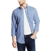 GANTHerren Freizeit Hemd The Poplin Gingham Check Ls Bd