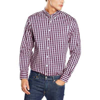 GANTHerren Freizeit Hemd O1. Heather Oxford Gingham Reg. Bd
