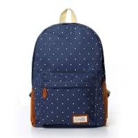 Generico4pcs Retro Mochila Backpack Bolso Bolsa Hombres Niños Escolar Colegio Trabajo Viajes - Azul