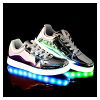 GenericoZapatos Casual Unisex Con Luz LED Charger -plata