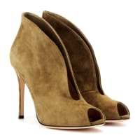 Gianvito RossiVamp suede peep-toe ankle boots