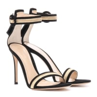 Gianvito RossiSandalen Marshal aus Veloursleder mit Metallic-Stickerei