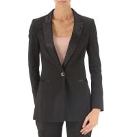 Giorgio ArmaniBlazer for Women On Sale, Black, polyester, 2016, 4 6