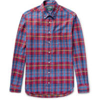 Gitman VintageButton-down Collar Checked Cotton Shirt - red