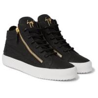 Giuseppe ZanottiCroc-effect Leather High-top Sneakers - black