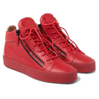 Giuseppe ZanottiLeather High-top Sneakers - Red
