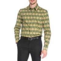 GivenchyCarpet-Print Long-Sleeve Shirt, Green Pattern