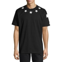 GivenchyColumbian-Fit Star-Appliqué T-Shirt, Black