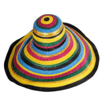 GivenchyCouture Colorful Broad Brimmed Hat
