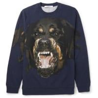 GivenchyCuban-fit Printed Fleece-back Cotton-jersey Sweatshirt - Navy
