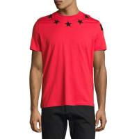 GivenchyCuban-Fit Star-Appliqué T-Shirt, Red