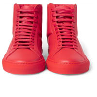 GivenchyLeather High-top Sneakers - Red