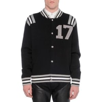 Givenchy17 Knit Varsity Jacket, Black
