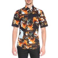 GivenchyPrinted Short-Sleeve Woven Shirt, Orange