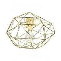 Globen LightingDiamond ceiling lamp brass