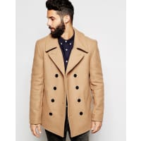 GloverallPeacoat in Wool - Tan