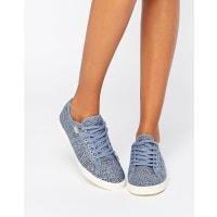 GolaAster - Schnür-Sneaker aus bedrucktem Jeansstoff - Blau
