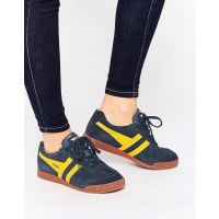 GolaHarrier - Klassische Sneaker in Gelb & Marine - Marineblau