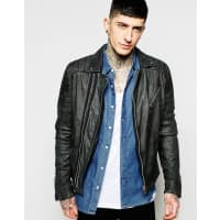 GoosecraftLeather Biker Jacket - Black