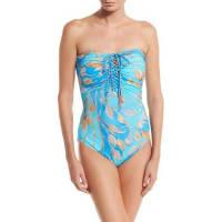 GottexCapri Lace-Up Bandeau One-Piece Swimsuit