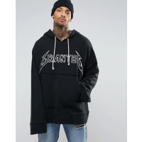 GRANTEDSuper Oversized Grunge Hoodie With Extra Long Sleeves