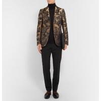 GucciBlack And Gold Slim-fit Jacquard Tuxedo Jacket - Gold
