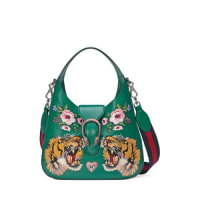GucciDionysus Small Embroidered-Tigers Hobo Bag, Green/Multi