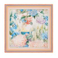 GucciHalstuch aus Seidensablé mit Hortensien-Print