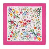 GucciHalstuch mit Blumendruck aus Seidentwill