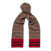 GucciHoundstooth Wool And Cashmere-blend Scarf - Red