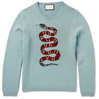 GucciIntarsia Wool Sweater - Blue