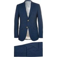 GucciNavy Slim-fit Checked Seersucker Suit - Navy