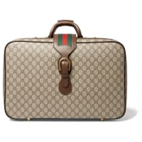 GucciNeo Vintage Leather-trimmed Monogrammed Coated-canvas Briefcase - Brown