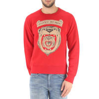 GucciSweatshirt for Men On Sale, Red, Cotton, 2016, L S
