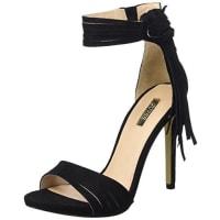 GuessAida Sue03, Sandali Con Cinturino Alla Caviglia Donna, Nero, 37 EU