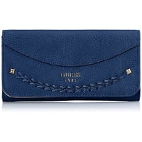 GuessGuess Mujer Solene Slg Lrg Flap Organizer Monedero Azul Blu (Sapphire)