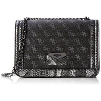 GuessDamen Taree Convertible Crsbody Flap Handtaschen, Schwarz (Onyx), One Size