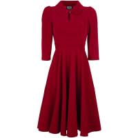 H&R LondonGlamourous Velvet Tea Dreams Dress Kleid rot