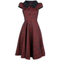 H&R LondonRegina Brocade Party Dress Kleid schwarz/rot