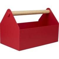 HabitatEmilio Caja para herramientas de madera y metal rojo