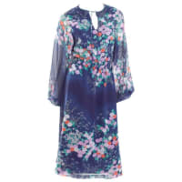 Hanae Mori1970 Hanae Mori Chiffon Dress