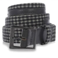 HauteLeather and Fabric Checked Belt Herbst/Winter