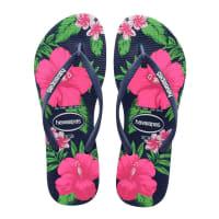 HavaianasSlippers-Flip Flops Slim Floral-Blauw