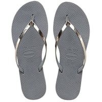 HavaianasYou Metallic - Sandalias Mujer, color Gris - Grau (steel Grey 5178)