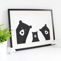 Heather Alstead DesignBear Family Selfie, Personalised A3 Print